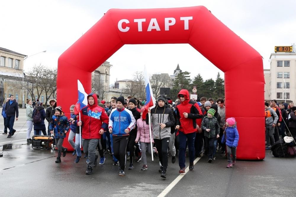 Спортивная эстафета в Ставрополе собрала 4000 человек