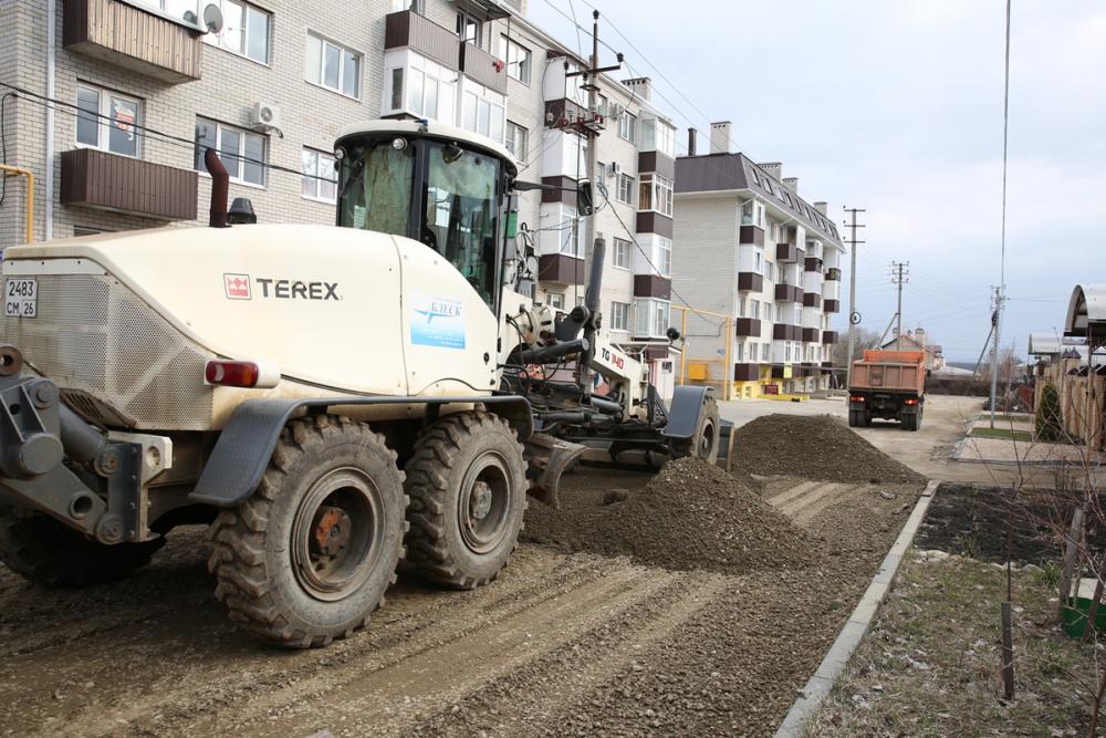 В Ставрополе активно ремонтируют дороги в частном секторе