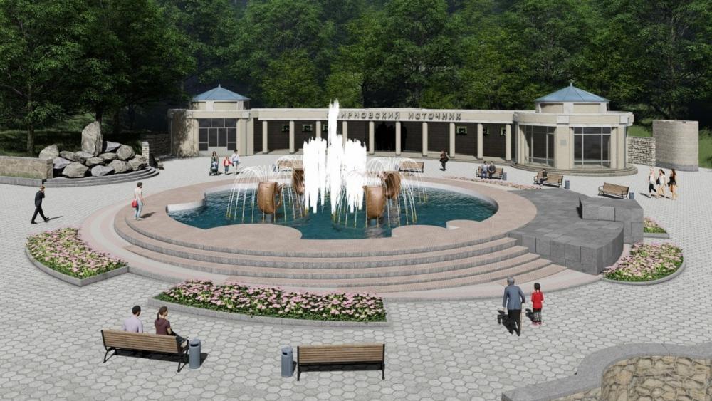 На Ставрополье реконструируют фонтан в городе-курорте