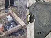 остатки телепорта и шлем для работы с прибором