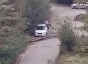 В элитном районе Ставрополя дерево едва не упало на автомобиль