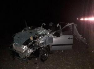 Водитель «Гранты» с супругой попали в больницу после серьезного ДТП с коровой под Ставрополем