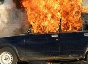 «Семёрка» загорелась после ДТП на одной из трасс Ставрополья