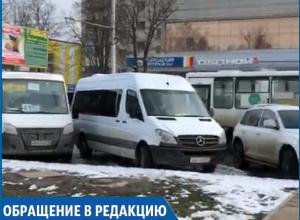 Водители «маршруток» устроили самовольную «конечку» на парковке, - возмущенные жители Ставрополя