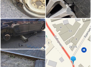 Письмо в редакцию: Из-за огромной ямы между рельсами в Пятигорске жители портят автомобили