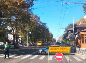 Центр Ставрополя перекрыт для транспорта
