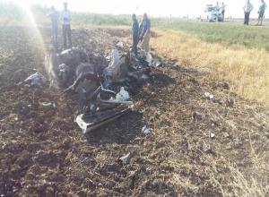 Элитная «Ауди-R8» на огромной скорости вылетела на повороте в кювет и сгорела в Ставропольском крае - водитель погиб на месте