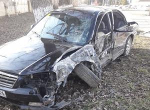 «Киа-Маджентис» въехала в яму и разбилась в Ставрополе