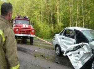 Человек пострадал в перевернувшемся на трассе ВАЗе на Ставрополье
