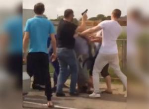 Драка со стрельбой из-за дорожного конфликта под Ставрополем попала на видео