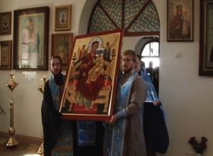 На Ставрополье привезли Чудотворную икону Божией Матери Всецарицы