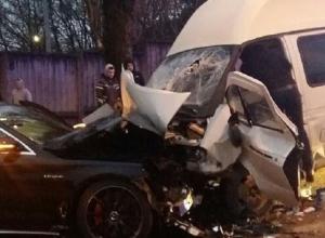 Стали известны подробности жуткой аварии с участием «Мерседеса» и «маршрутки» в Ставрополе