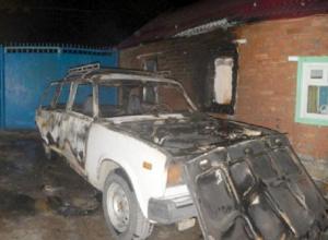 Бывший муж из мести сжег автомобиль женщины на Ставрополье