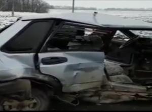 Тройное ДТП с пятью пострадавшими на Ставрополье попало на видео