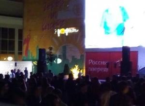 Массовым ликованием на Александровской площади встретили ставропольцы победу сборной России на ЧМ-2018