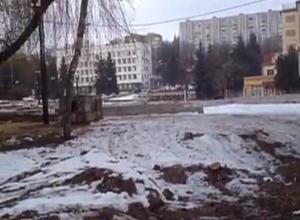 Вырубку деревьев у кинотеатра «Россия» в Кисловодске засняли на видео
