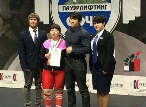 Абсолютной чемпионкой России по жиму штанги среди слепых стала жительница Ставрополья