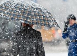 Сильный дождь вкупе со снегом ждут жителей Ставрополя в начале новой недели