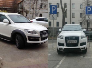 Два кроссовера с «крутыми» номерами имели право занимать места для инвалидов на парковке Ставрополя