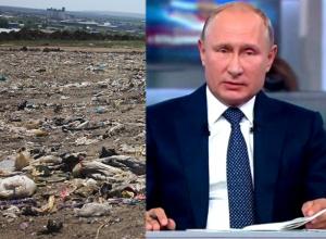 На захламление окрестностей Пятигорска пожаловались Путину на прямой линии