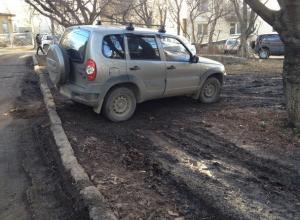 Паркуюсь как хочу: автохамы бесцеремонно оккупировали газоны во дворе Ставрополя