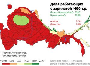 Больше ста тысяч рублей на Ставрополье получает мизерное количество людей