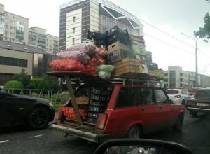 Легковушку в грузовик необычным способом превратил житель Ставрополя