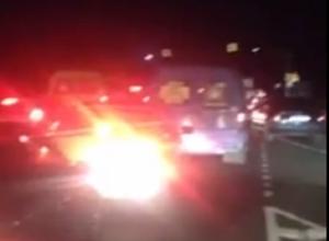 7-ми километровая «пробка» образовалась из-за серьезного ДТП под Ставрополем