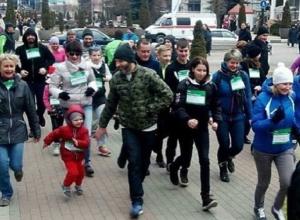 С бега и обещаний начали новый год жители пяти городов Ставрополья