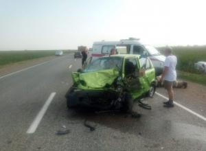 Женщина-водитель погибла в столкновении «Матиза» и «Лады-Ларгус» на Ставрополье