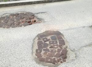 «Новую технологию» ремонта дорог на Бруснева высмеяли жители Ставрополя
