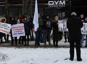Свечи не зажглись на акции памяти Бориса Немцова в Ставрополе