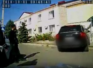 Погоня полиции за лихачом без прав на «Порше» попала на видео на Ставрополье