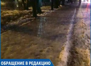 «Опасный квест на выносливость для пешеходов устроили городские власти», - рассерженная состоянием тротуаров ставропольчанка