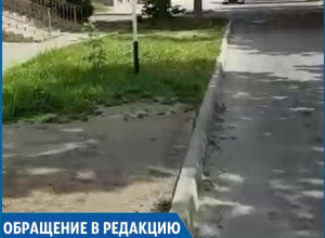 «Плитка закончилась»: житель Ставрополя пожаловался на непроходимый пешеходный переход