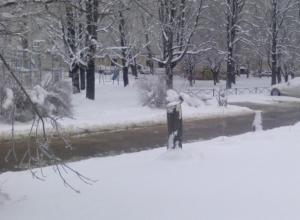 Район Ботаники затопило мощным потоком воды в Ставрополе