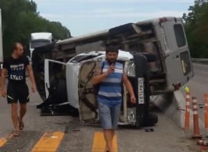 Один человек пострадал в жесткой аварии на Ставрополье, - очевидцы