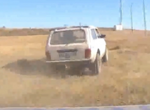 Погоня за пьяным водителем на «Ниве» попала на видео в Светлограде