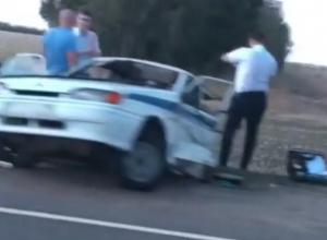 Машину ДПС разорвало попалам по дороге к месту массовой аварии с погибшими на трассе Кропоткин - Ставрополь