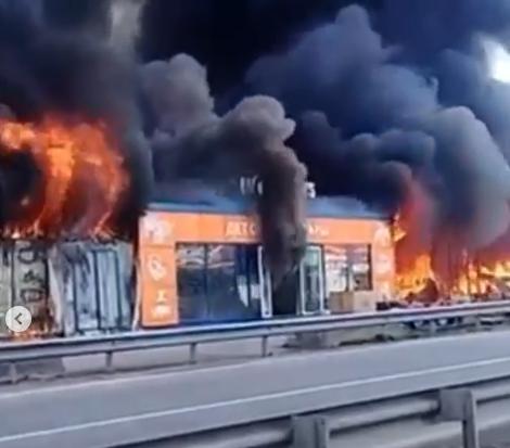 Крупный пожар на Ставрополье испугал жителей