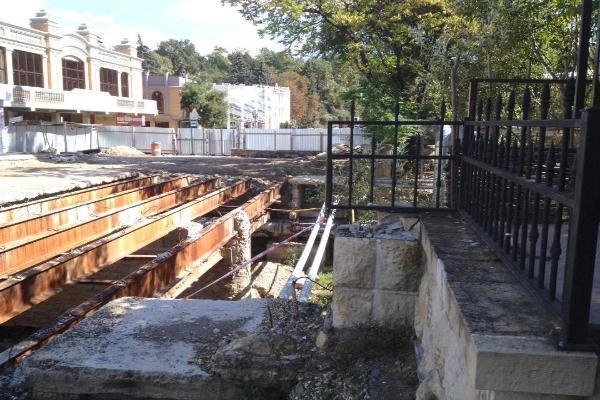 Реконструкция моста вКисловодске завершилась, неуспев начаться