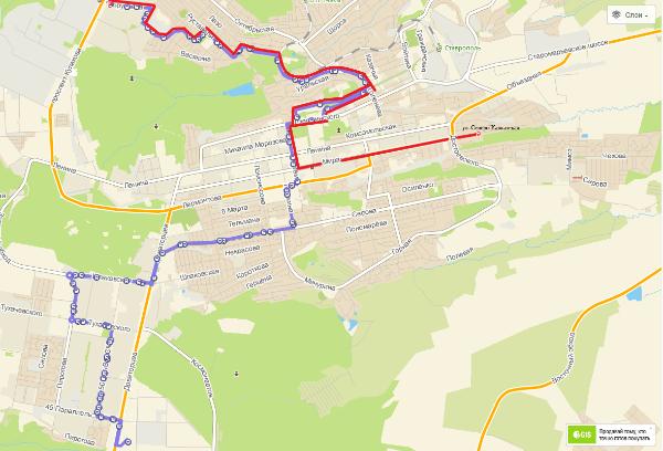 В Ставрополе изменено движение маршрута 30м