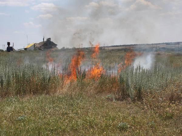 Более 30 ландшафтных пожаров произошло на Ставрополье за прошедшие выходные