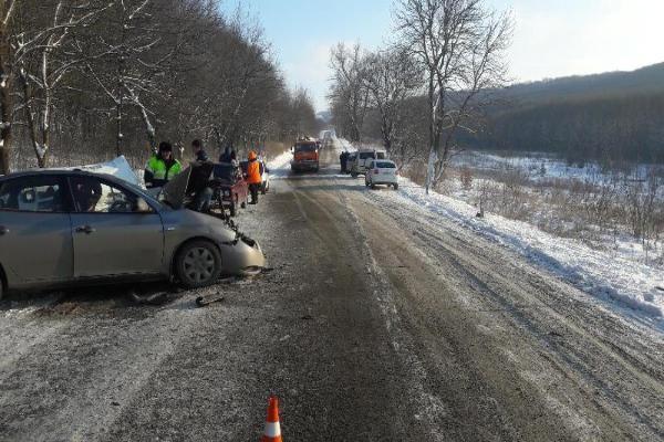 Два человека погибли, трое пострадали вдвойном ДТП наСтаврополье