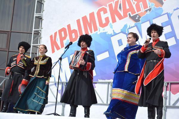Митинг вчесть годовщины воссоединения Крыма сРоссией состоялся вСтаврополе