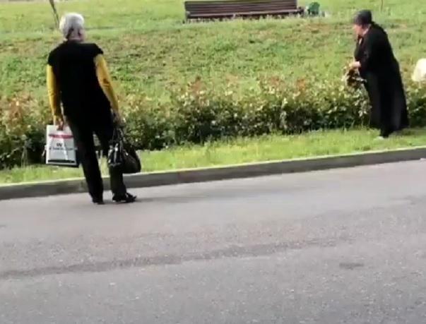 Две женщины-вандалки попали на видео в Пятигорске