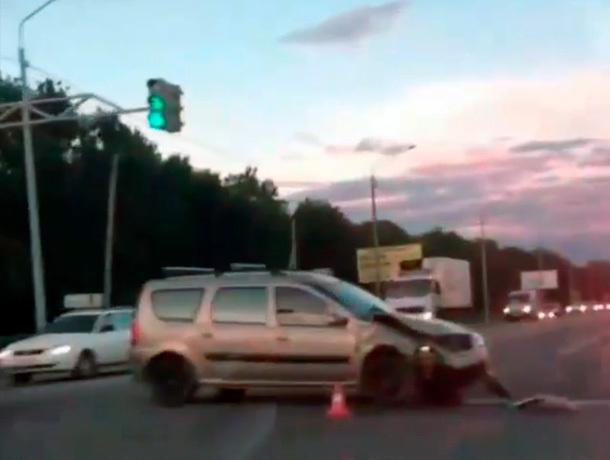 На выезде из Ставрополя произошла авария