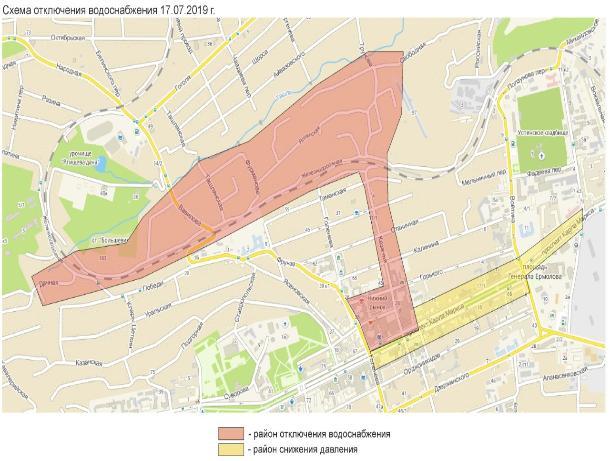 Центр Ставрополя 17 июля останется без воды