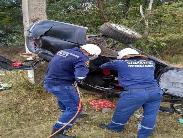 ВРостовской области перевернулась иностранная машина: умер 34-летний мужчина