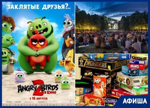 Ночь кино, настольные игры  и премьера «Angry Birds»: ставропольчан ждет насыщенная неделя